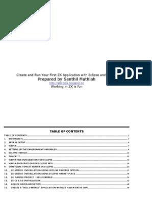 Java Eclipse ZK Maven Tomcat Setup | Eclipse (Software