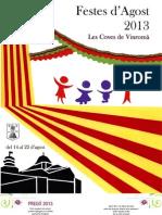 Programa de mà de les Festes d'Agost de 2013