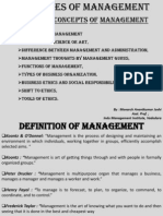Module 1 Concepts of Management