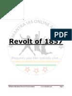Modern India Revolt of 1857 Detailed Notes Sample