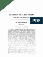 GIGNOUX M 1933_Les Oursins Reguliers Fossiles