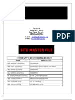 site master file