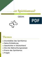 Was Ist Spiritismus