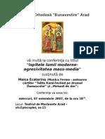 Maica Ecaterina(Monica Fermo)-Ispitele Lumii Moderne-Agresivitatea Mass-media01