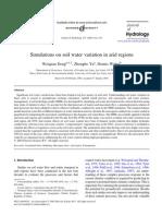 Simulations on Soil Water Variation in Arid Regions