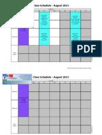 program timetable august 2013