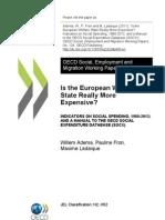 Is Europian Welfare State More Expensive