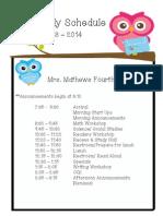 mathews schedule
