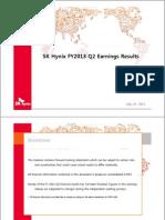 SK Hynix. 2Q13 Earnings Presentation