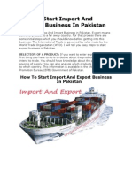 Pakistan Export's Business