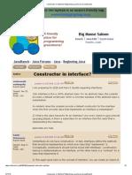 Constructor in Interface_ (Beginning Java Forum at JavaRanch)