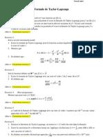 Formule de Taylor-Lagrange