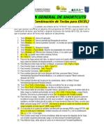 Resumen General de ATAJOS o Shortcuts en Excel