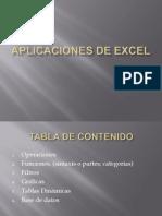Aplicaciones de Excel