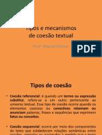 Tipos e Mecanismos de Coesao Textual