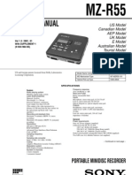 Sony MZ-R55 Service Manual