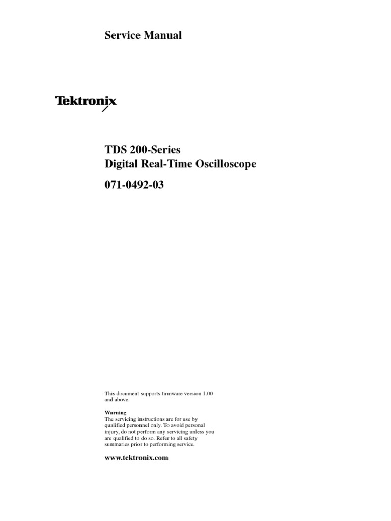 tektronix tds210 service manual electricity electronics rh scribd com tektronix tds 210 service manual Tektronix TDS 2024