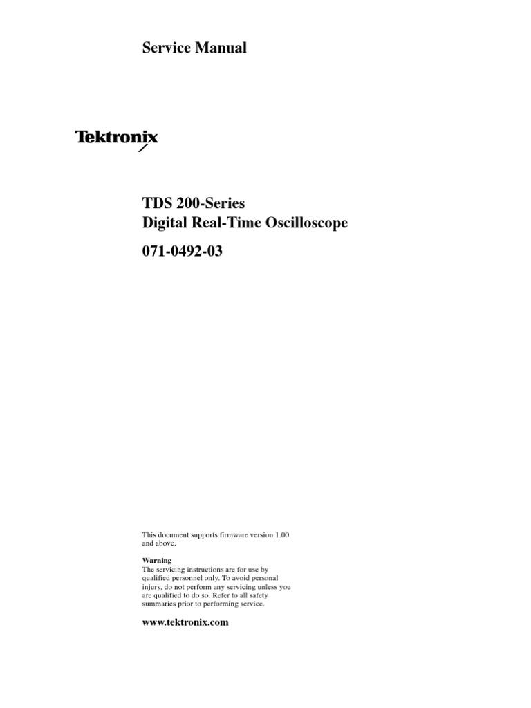 tektronix tds210 service manual electricity electronics rh scribd com Behringer Mixer Manuals Tektronix Oscilloscope