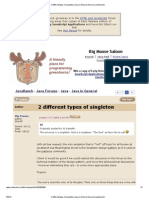 2 Different Types of Singleton (Java in General Forum at JavaRanch)-2