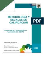 Metodologia Evaluacion de Experiencia y Valoracion Del Merito