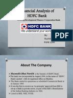 finanial analysis of HDFC bank