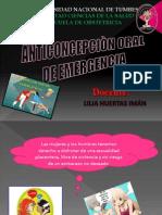 Anticoncepcion Oral de Emergencia