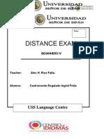 Beg IV-first Distance Exam