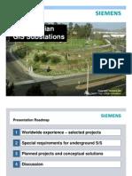 Subterranian GIS Substations