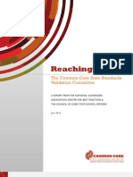 Reaching Higher The Common Core State Standards Validation Committee