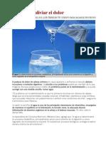 Agua Para Aliviar El Dolor