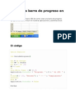 Crear Una Barra de Progreso en Excel