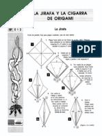 Origami La Jirafa y La Cigarra