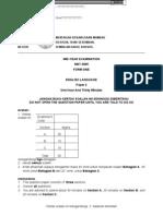 Kertas Peperiksaan English/BI, mus225