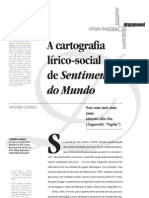 Vagner A cartografia lírico-social de Sentimento