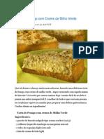 Torta de Frango Com Creme de Milho Verde