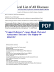 Alphabetical List of All Diseases