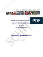 Manual Operational Beneficiari Posdru 2009