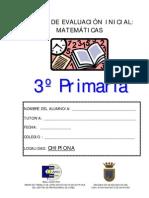 PRUEBA DE MATEMµTICAS 3ß
