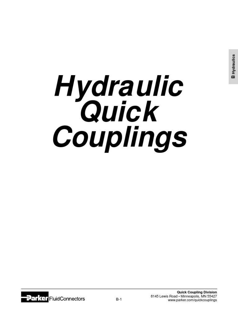 Parker BST-N1 High Flow Hydraulic Quick Coupler 1//8 NPT Female Brass