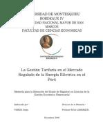 GESTION TARIFARIA ELECTRICA PERU-MEMORIA