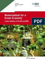 Memorandum for a Green Economy in Germany- June 2012