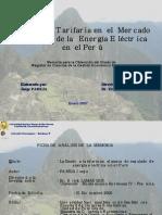 Gestión Tarifaria en Electricidad Perú