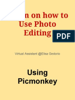 Tutorial on Tons of Usages in Picmonkey Photo Editing and Templates Making