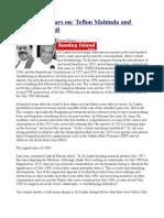 1983, Thirty Years on Teflon Mahinda and Scapegoat Ranil