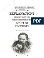 Right of Property (P.J. Proudhon)