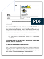 HISTORIA DE LA LEGISLACIÓN PETROLERA EN BOLIVIA