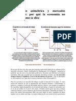 Información asimétrica y mercados imperfectos