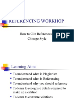 Chicago Style Referencing Workhop-students 1