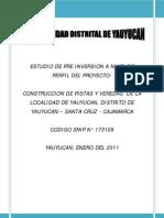 Perfil de Proyectos Yauyucan