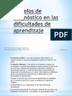Modelos de diagnóstico en las dificultades de aprendizaje